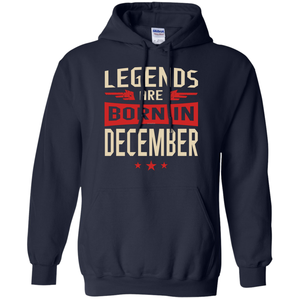 Legends Are Born in December AT0078 G185 Pullover Hoodie 8 oz.
