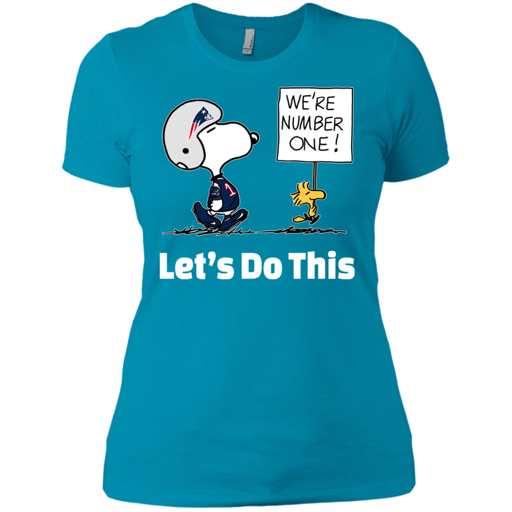 Snoopy Patriots NL3900 Ladies' Boyfriend T-Shirt