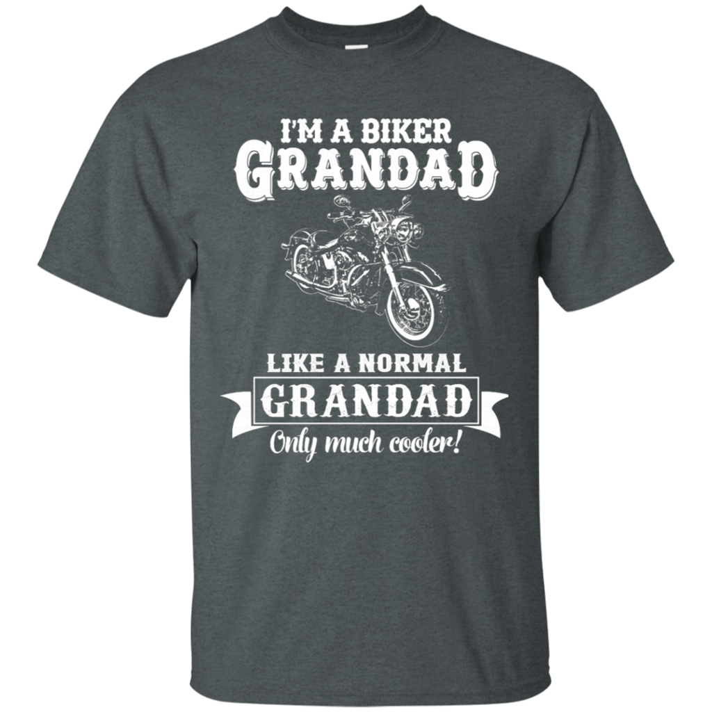 Biker Grandad , Like normal Grandad , Only Cooler AT0132 G200 Cotton T-Shirt - OwlCube - Diamond Painting by Numbers
