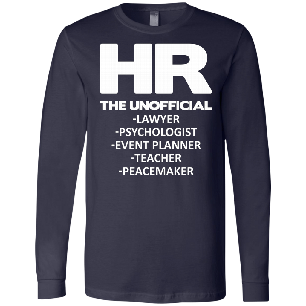 HR THE UNOFFICIAL LAWYER TEACHER AT0066 3501 Men's Jersey LS T-Shirt