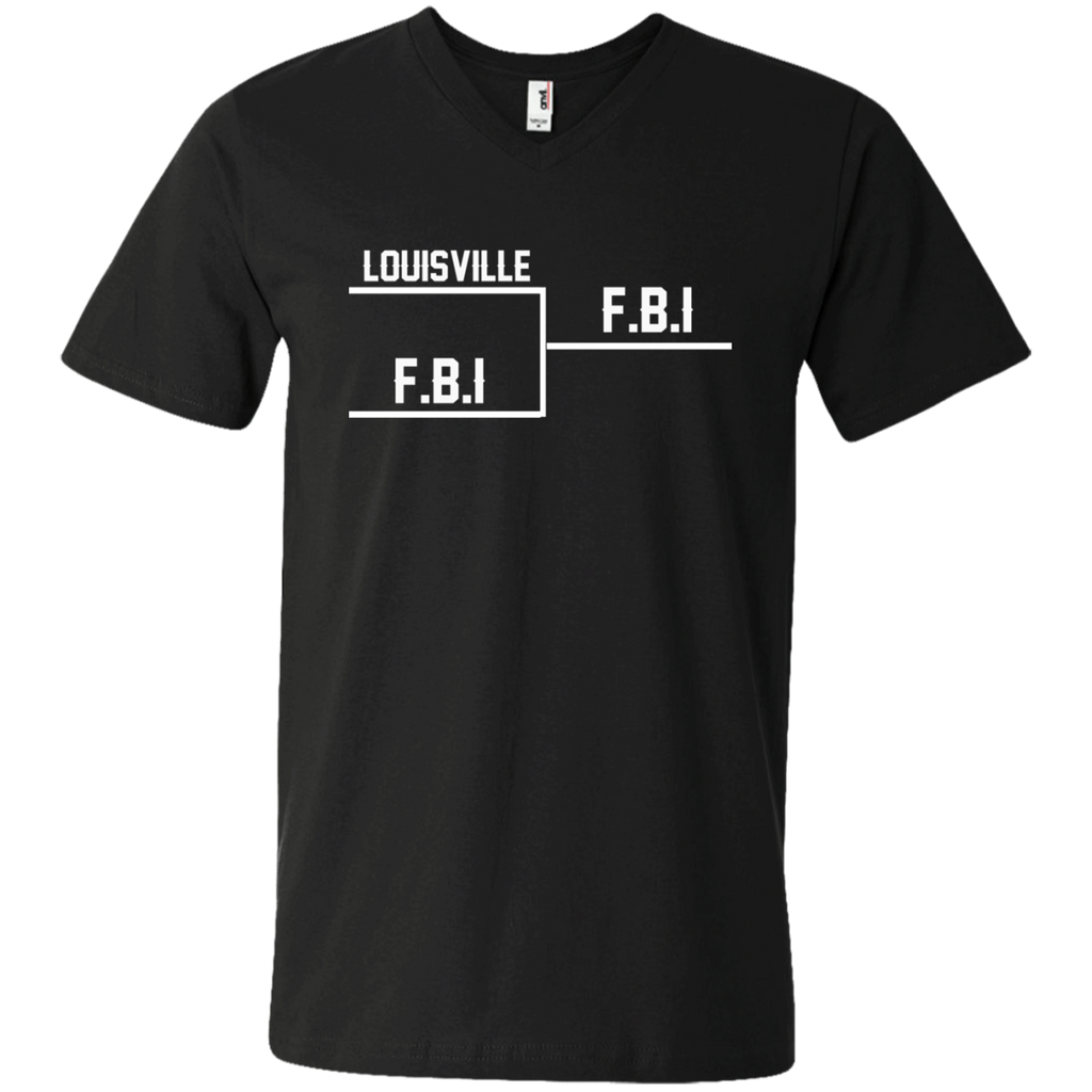Louisville FBI AT0084 982 Men's Printed V-Neck T-Shirt