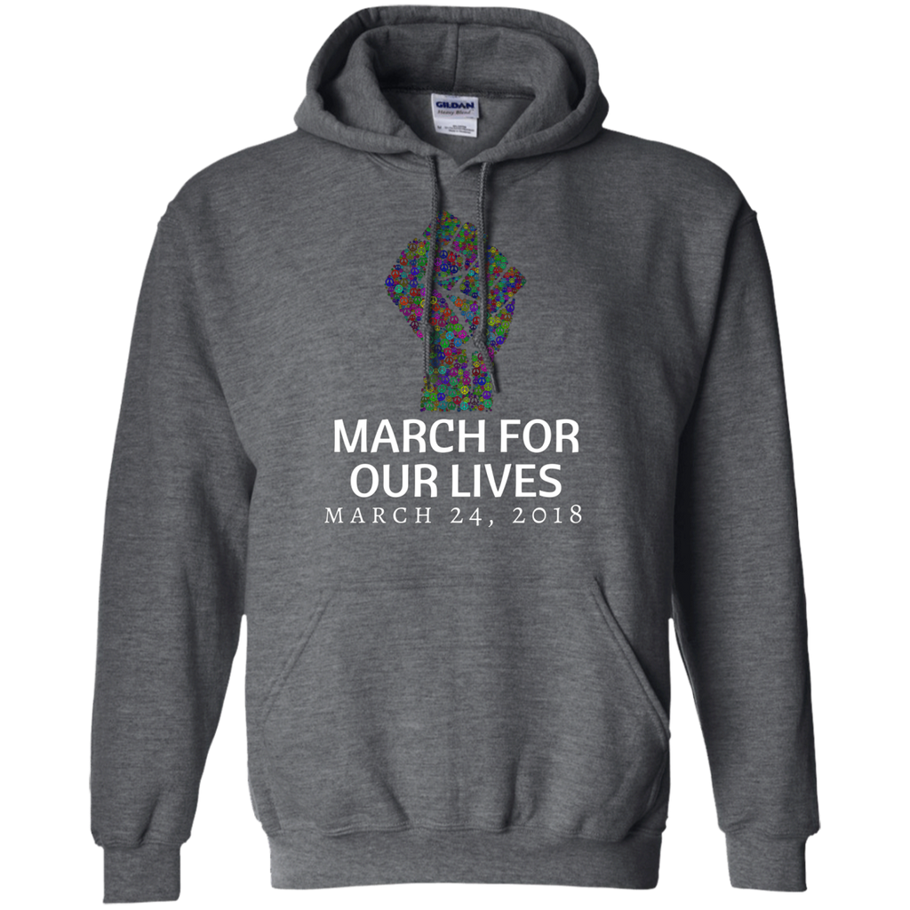 March for our Lives AT0046 G185 Pullover Hoodie 8 oz.