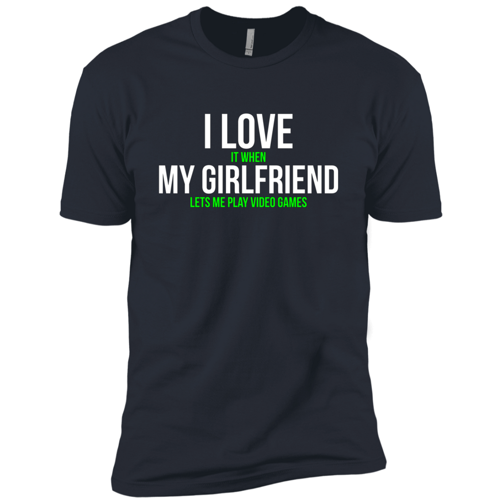 I love my girlfriend Funny Gamer AT0068 NL3600 Premium Short Sleeve T-Shirt
