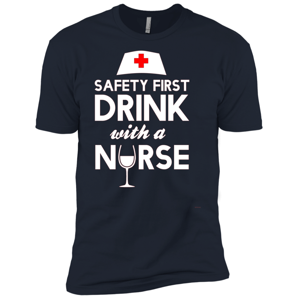Safety first drink with a nurse AT0120 NL3600 Premium Short Sleeve T-Shirt
