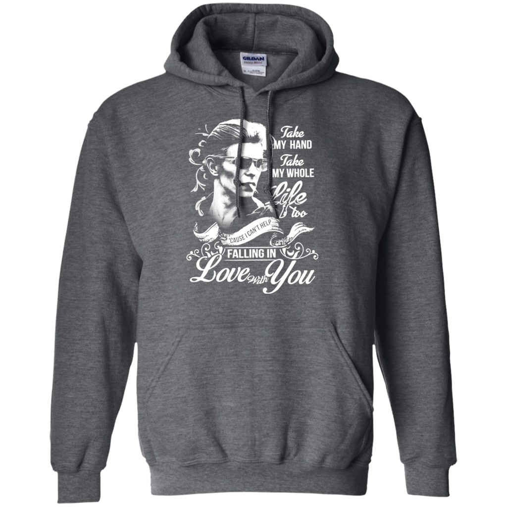 David Bowie Lovw - Falling in Love with you G185 Pullover Hoodie 8 oz. - OwlCube - Diamond Painting by Numbers