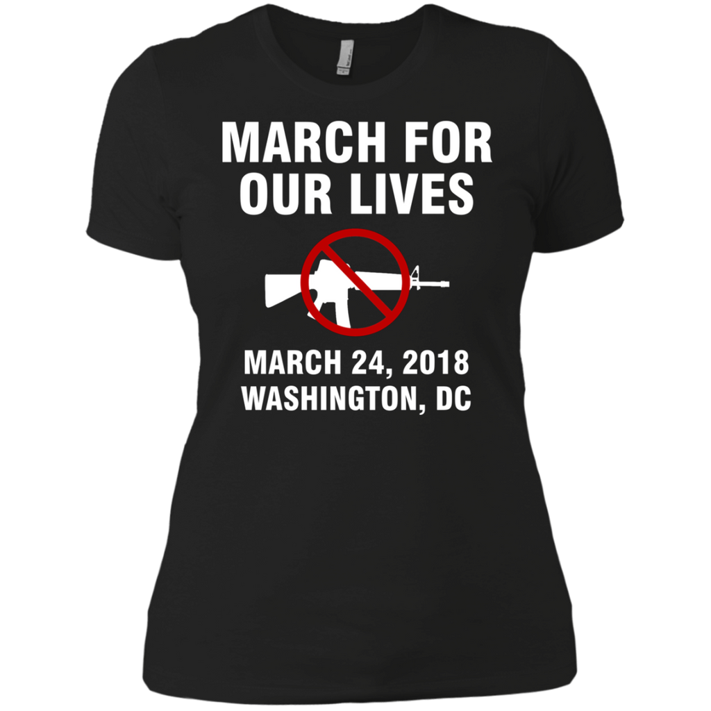 March For Our Lives Washington DC March 24 2018 End Gun Violence AT0088 NL3900 Ladies' Boyfriend T-Shirt