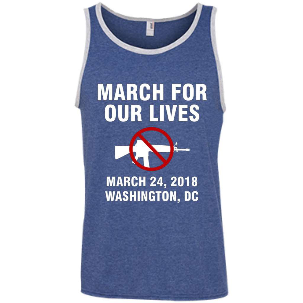March For Our Lives Washington DC March 24 2018 End Gun Violence AT0088 100% Ringspun Cotton Tank Top