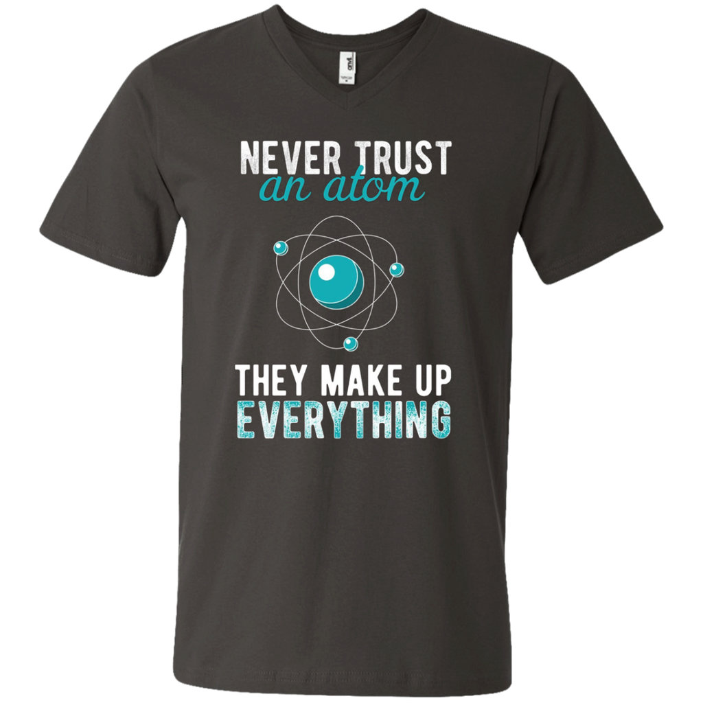 AT0030 Never Trust an Atom, they Make Up Everything 982 Men's Printed V-Neck T-Shirt - OwlCube - Diamond Painting by Numbers