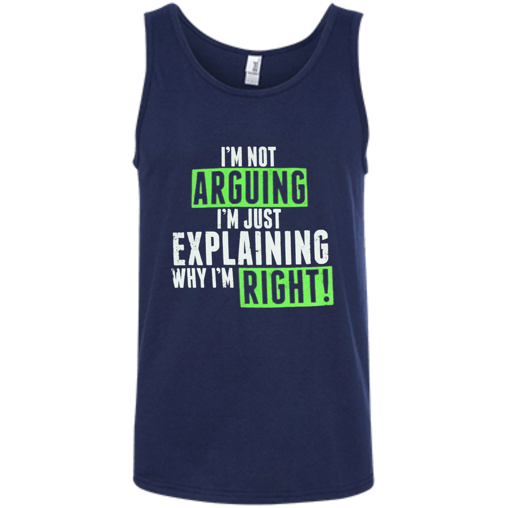 AT0020 I'm not arguing, I'm just explaining why I'm right 100% Ringspun Cotton Tank Top - OwlCube - Diamond Painting by Numbers