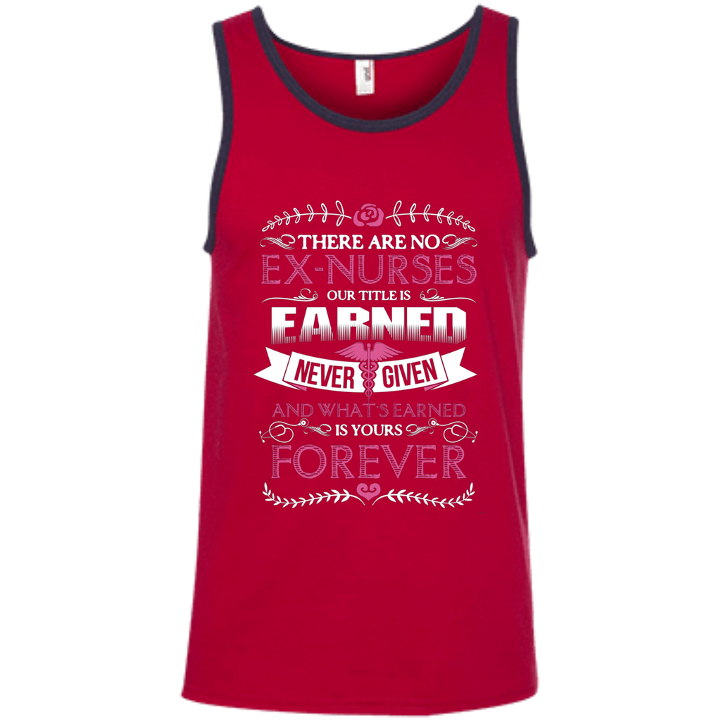 Nurse Forever AT0122 100% Ringspun Cotton Tank Top