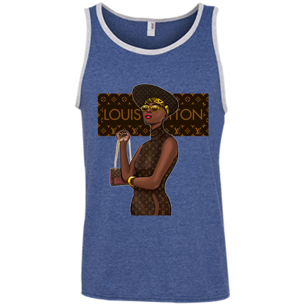 Black Louis Vuitton 1 100% Ringspun Cotton Tank Top - OwlCube - Diamond Painting by Numbers