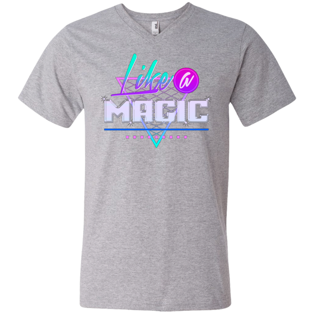 Like a Magic AT0082 982 Men's Printed V-Neck T-Shirt