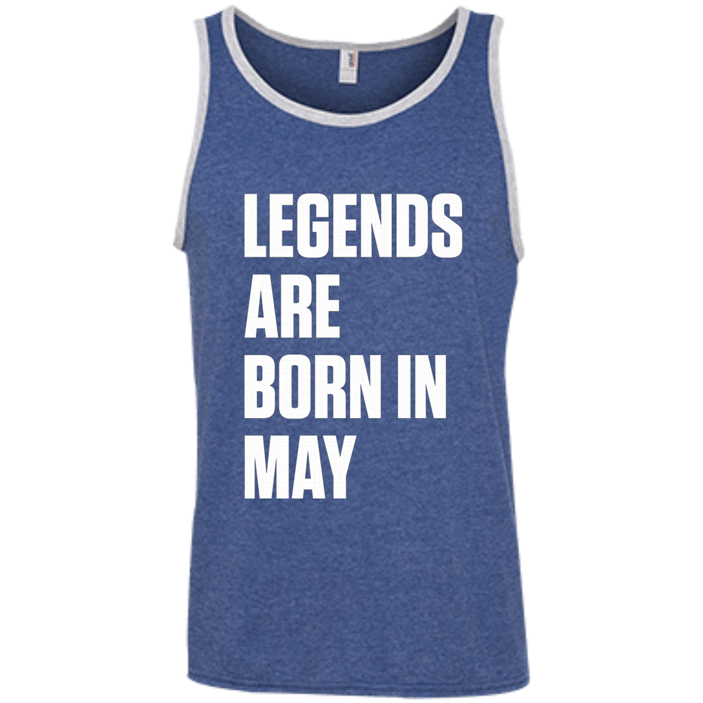 Legends Are Born In May AT0080 100% Ringspun Cotton Tank Top