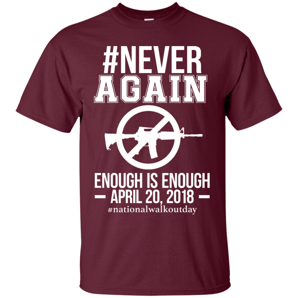 Gun Control, NEVER AGAIN Gun Reform Anti Gun 0064 G200 Cotton T-Shirt - OwlCube - Canvas Wall Art
