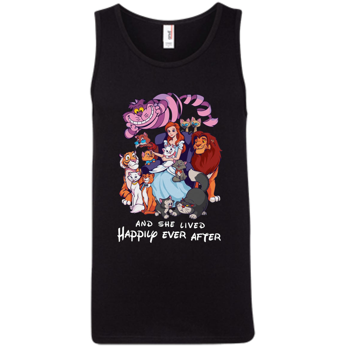 Disney Cats 100% Ringspun Cotton Tank Top