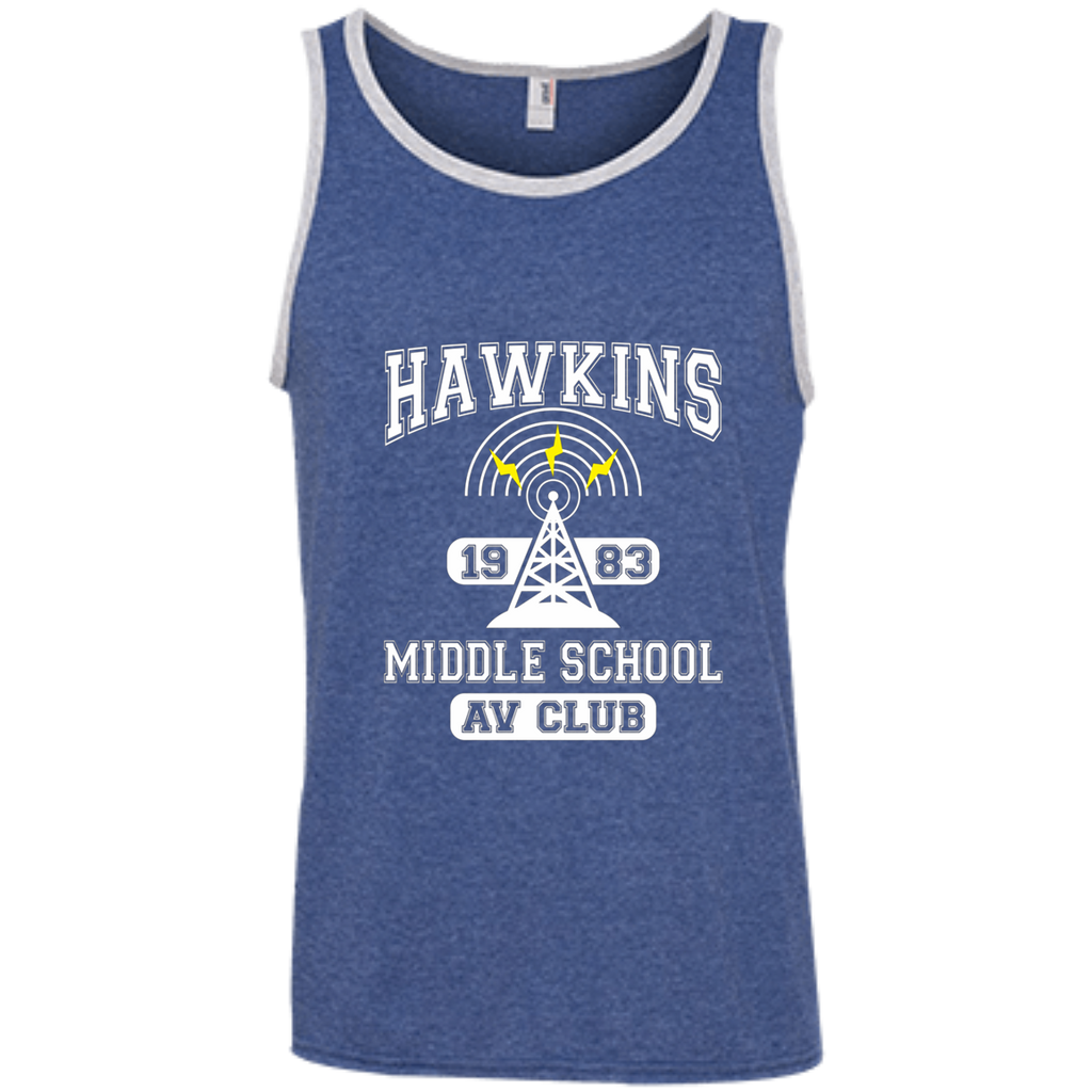 Stranger Things - Hawkins Middle School A.V. Club AT0102 100% Ringspun Cotton Tank Top