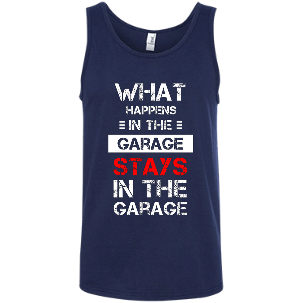 Mechanic T-Shirt - What happens stays in the Garage AT0089 100% Ringspun Cotton Tank Top