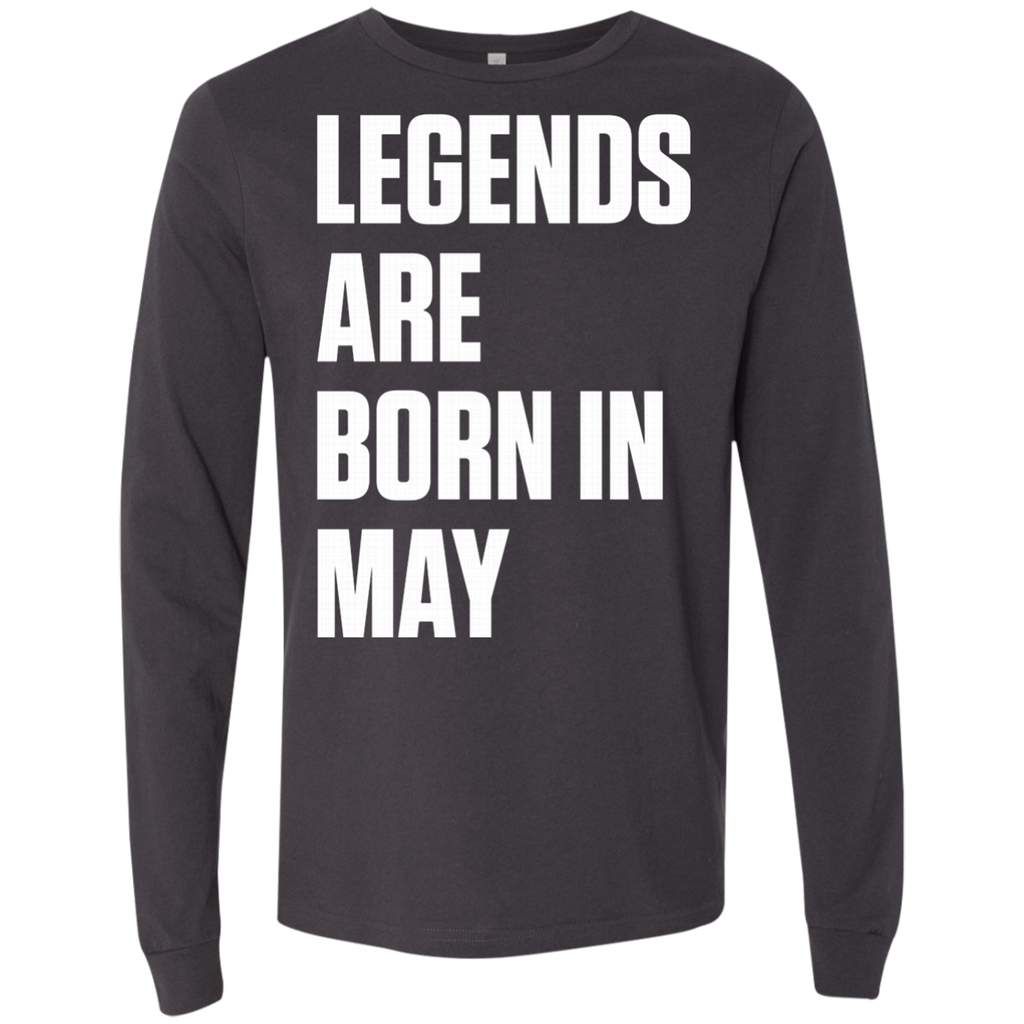 Legends Are Born In May AT0080 3501 Men's Jersey LS T-Shirt