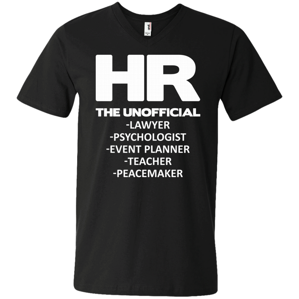 HR THE UNOFFICIAL LAWYER TEACHER AT0066 982 Men's Printed V-Neck T-Shirt