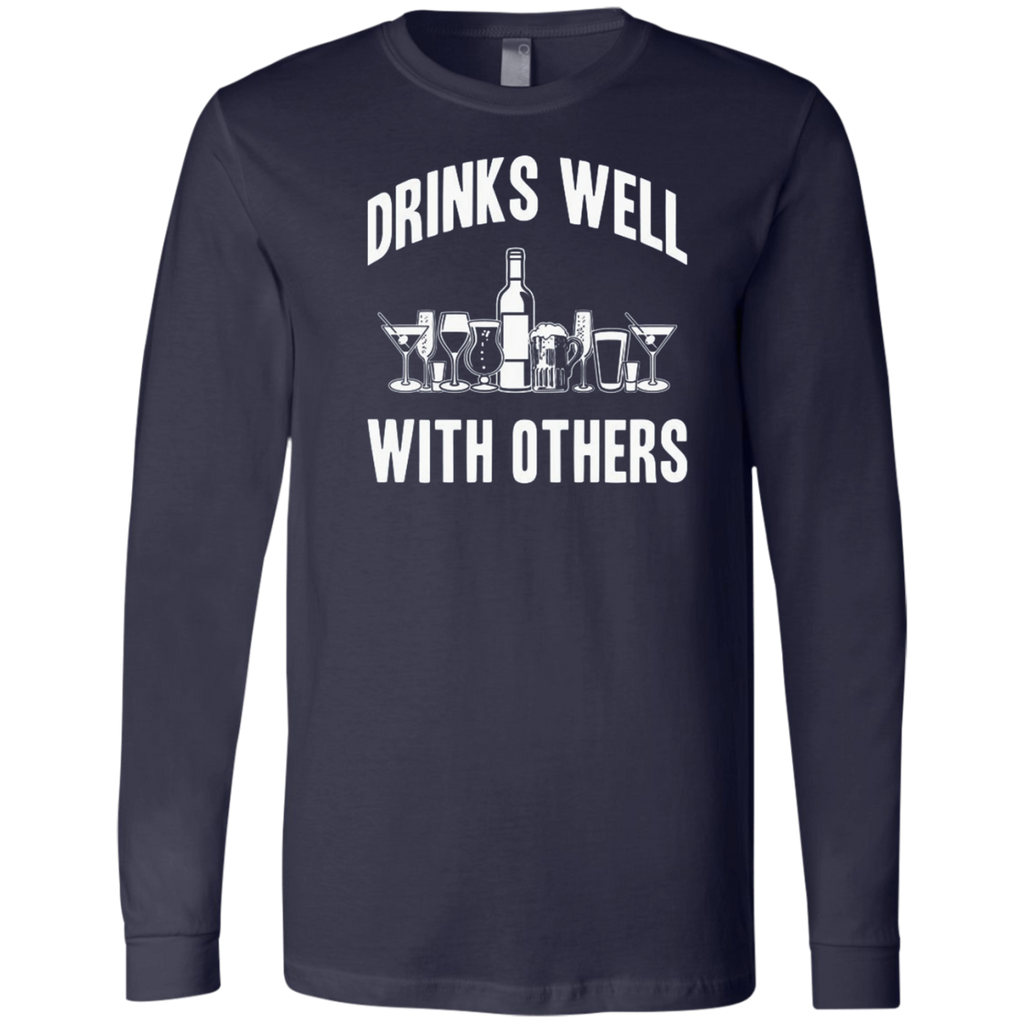 AT0004 Drinks Well With others 3501 Men's Jersey LS T-Shirt - OwlCube - Diamond Painting by Numbers