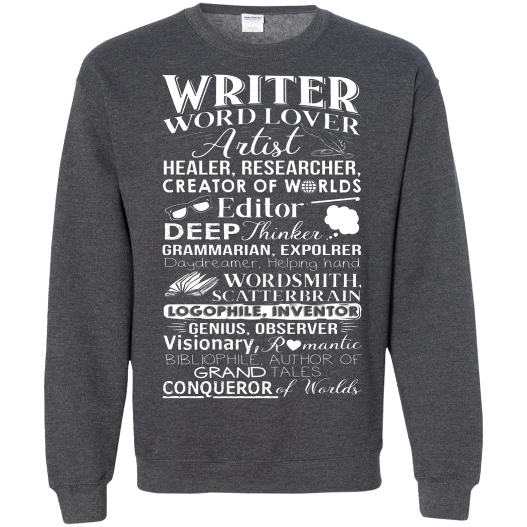 Writer Title Definition Meaning Author English Teacher AT0095 G180 Crewneck Pullover Sweatshirt  8 oz.