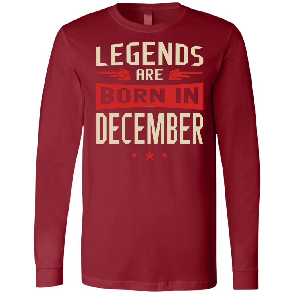 Legends Are Born in December AT0078 3501 Men's Jersey LS T-Shirt