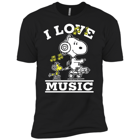 Snoopy Music 2 NL3600 Premium Short Sleeve T-Shirt