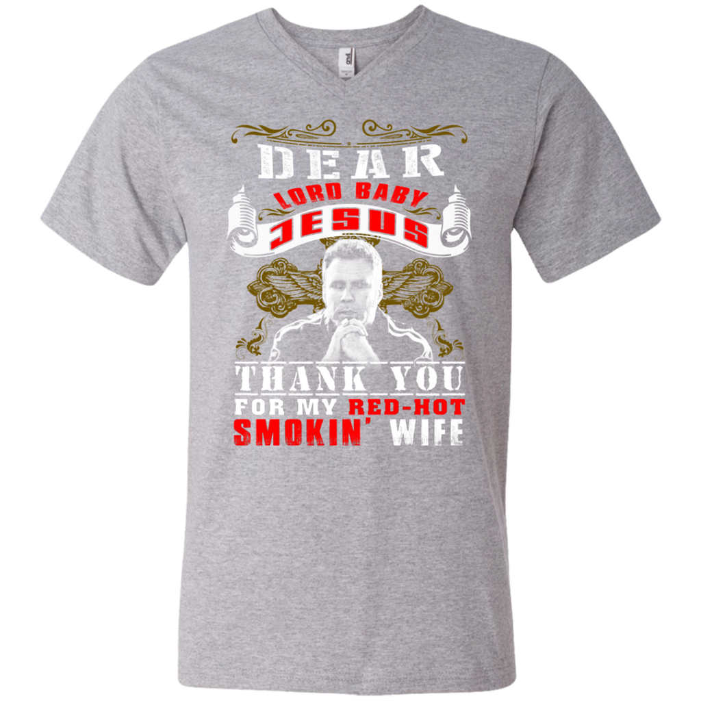 Talladega Nights - Red-Hot Smoking Wife 982 Men's Printed V-Neck T-Shirt