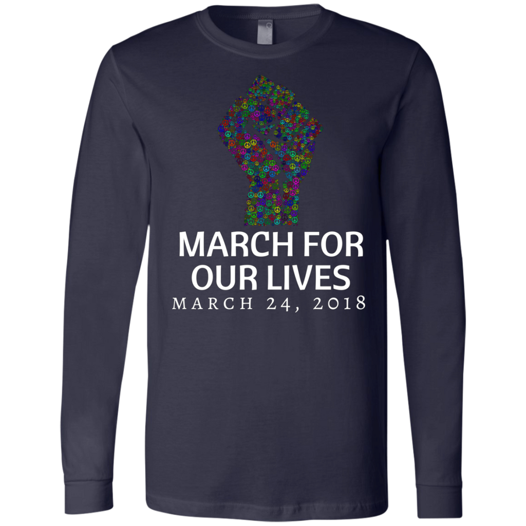 March for our Lives AT0046 3501 Men's Jersey LS T-Shirt