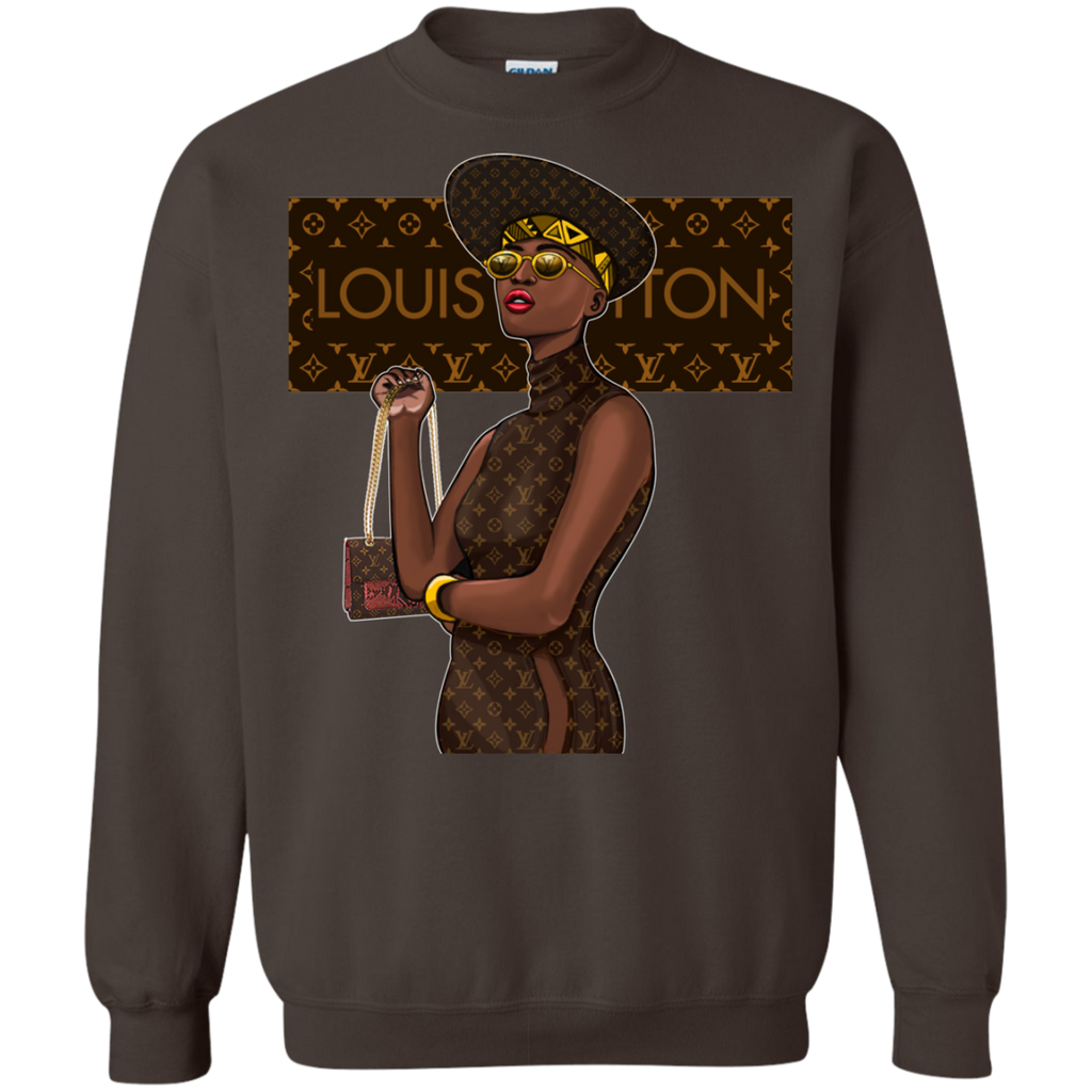 Black Louis Vuitton 1 G180 Crewneck Pullover Sweatshirt  8 oz. - OwlCube - Diamond Painting by Numbers