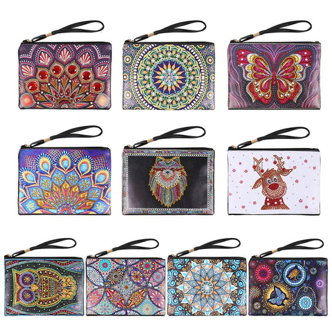 DIY Special Shaped Diamond Painting Wristlet Wallet Diamond Painting Embroidery Cross Stitch Wallet For Women Christmas Gifts