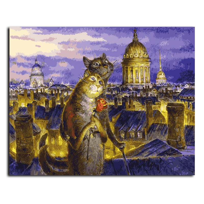 White Nights in Petersburg by Vladimir Rumyantsev - Easy DIY Paint by Numbers Kits - OwlCube Canvas Wall Art - OwlCube - Canvas Wall Art
