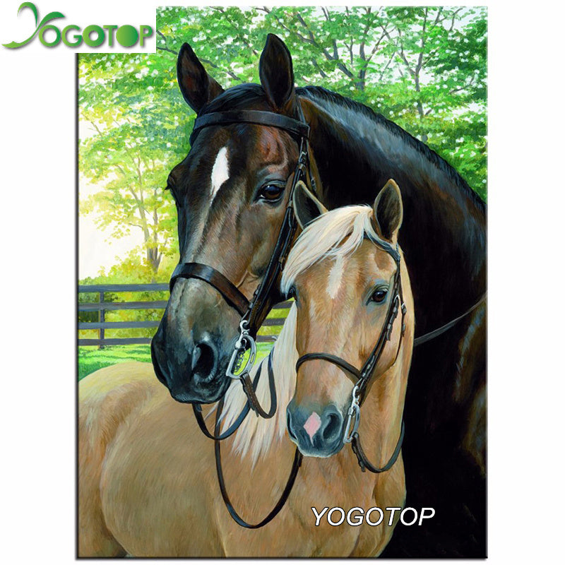 In Love with Horses - Easy 5D DIY Diamond Painting Kits - OwlCube Canvas Wall Art - OwlCube - Canvas Wall Art