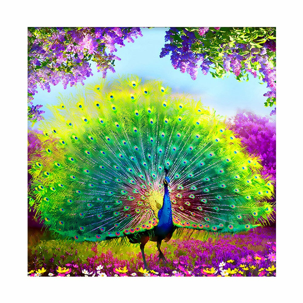 Be Your Full Power with a Peacock - Easy DIY Diamond Painting Kits - OwlCube Canvas Wall Art - OwlCube - Diamond Painting by Numbers