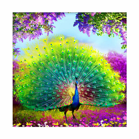 Be Your Full Power with a Peacock - Easy 5D DIY Diamond Painting Kits - OwlCube Canvas Wall Art - owlcube.com