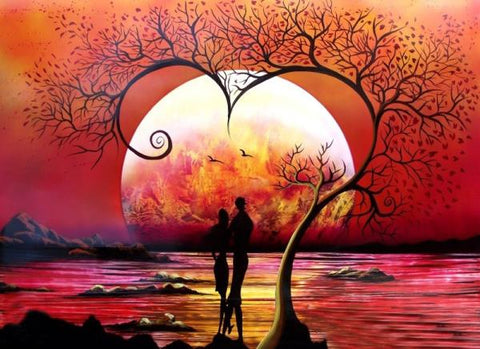 5D DIY Diamond Embroidery A couple under a tree Diamond Painting Cross Stitch Rhinestone gift Home decoration