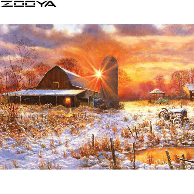 ZOOYA 5D Diy Diamond Painting Full Drill Square Landscape Diamond Embroidery Nature Paintings Diamond Mosaic Full Layout   ZH093