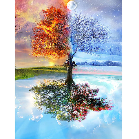 Season Tree - Easy 5D DIY Diamond Painting Kits - OwlCube Canvas Wall Art - OwlCube - Canvas Wall Art