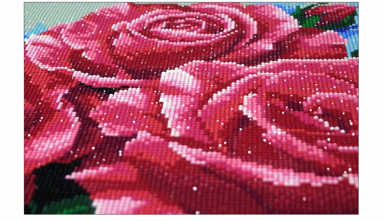Every Rose Has It's Thorn - Easy 5D DIY Diamond Painting Kits - OwlCube Canvas Wall Art - OwlCube - Diamond Painting by Numbers