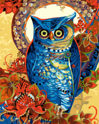 Hoot by David Galchutt - Easy DIY Paint by Numbers Kits - OwlCube Canvas Wall Art - OwlCube - Canvas Wall Art