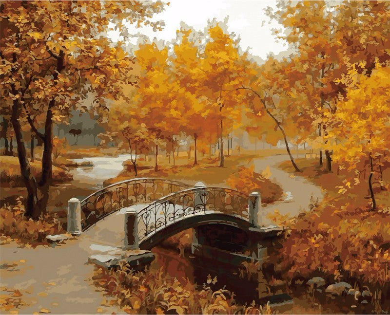 Countryside in the Fall - Easy DIY Paint by Numbers Kits - OwlCube - Diamond Painting by Numbers