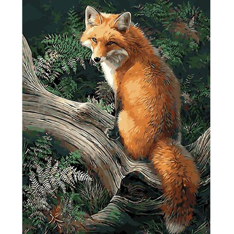 A Fox is a Wolf Who Sends Flowers - Easy DIY Paint by Numbers Kits - OwlCube Canvas Wall Art