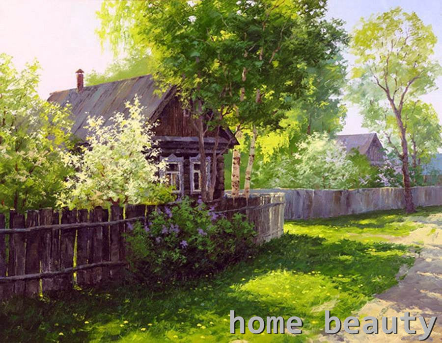 Russian Landscape  by Dmitry Levin - Easy DIY Paint by Numbers Kits - OwlCube Canvas Wall Art - OwlCube - Canvas Wall Art