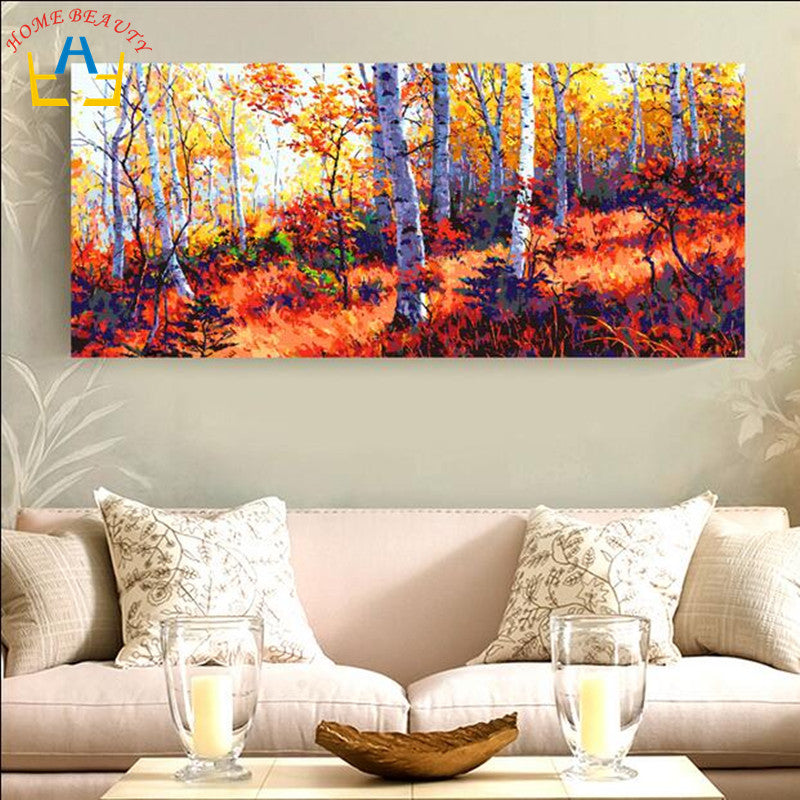 Forest in the Fall - Easy DIY Paint by Numbers Kits - OwlCube - Diamond Painting by Numbers
