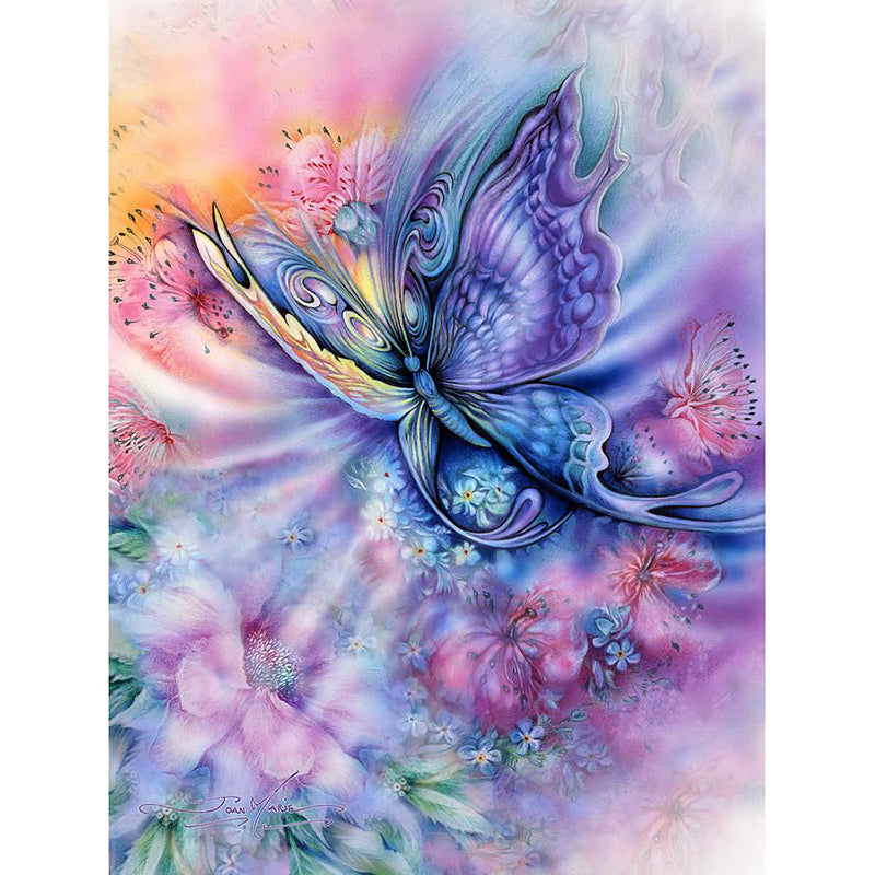 Butterfly & Flower - Easy DIY Diamond Painting Kits - OwlCube - Diamond Painting by Numbers
