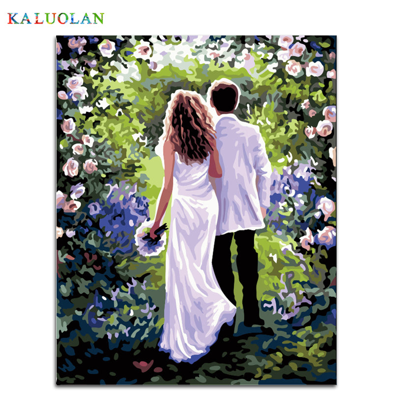 Wedding decoration - Easy DIY Paint by Numbers Kits - OwlCube - Canvas Wall Art