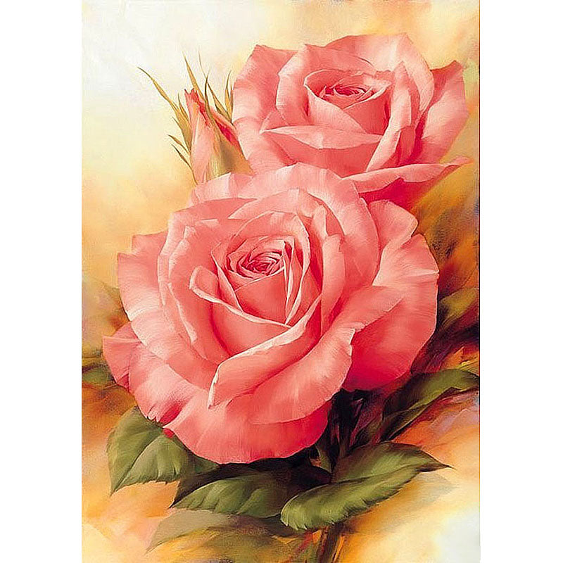 Pink flower - Easy DIY Diamond Painting Kits - OwlCube - Canvas Wall Art