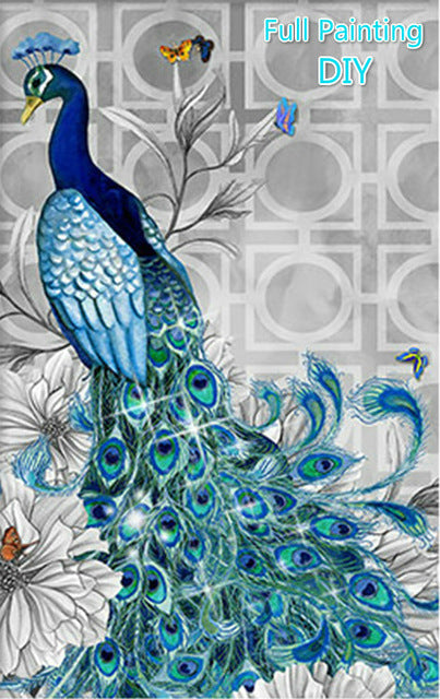 Peacock - Easy 5D DIY Diamond Painting Kits - OwlCube Canvas Wall Art - OwlCube - Canvas Wall Art