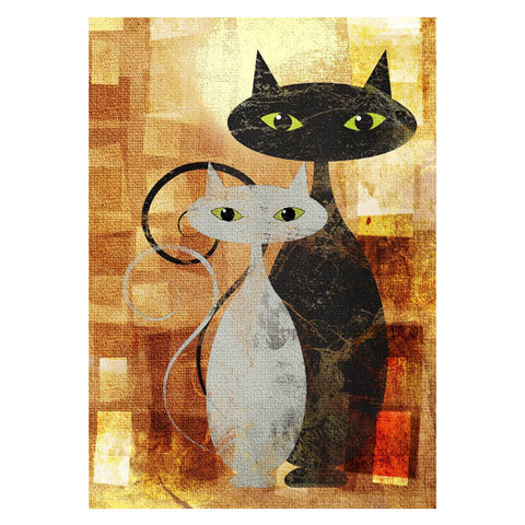 Cats are Love on Four Legs - Easy 5D DIY Diamond Painting Kits - OwlCube Canvas Wall Art - OwlCube - Diamond Painting by Numbers