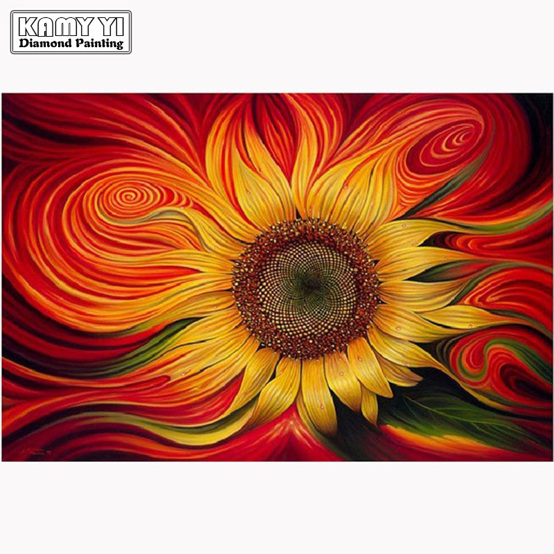 Sunflower - Easy DIY Diamond Painting Kits - OwlCube - Canvas Wall Art
